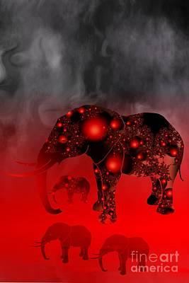 Elefant Digital Art - I Like Elephants by Issabild -