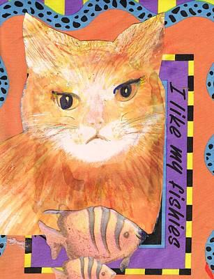 I Like My Fishes Orange Cat Original