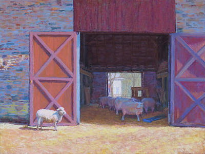 Pastel Barns Painting - I Like The Sun by Marsha Savage