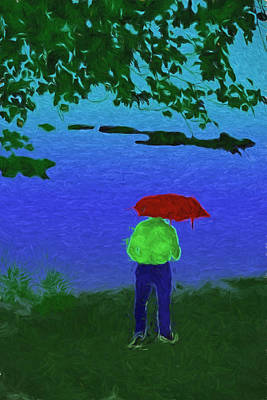 Digital Art - I Love A Rainy Night by John Haldane