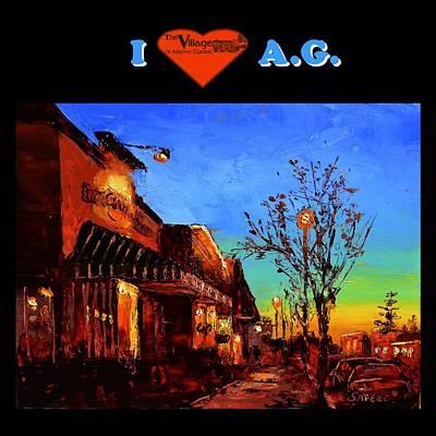 Lynee Sapere Wall Art - Mixed Media - I Love Ag Tote by Lynee Sapere