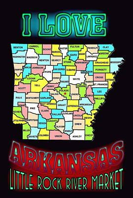 I Love Arkansas Art Print