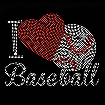 Photograph - I Love Baseball Embroidery Art by Sheila Mcdonald