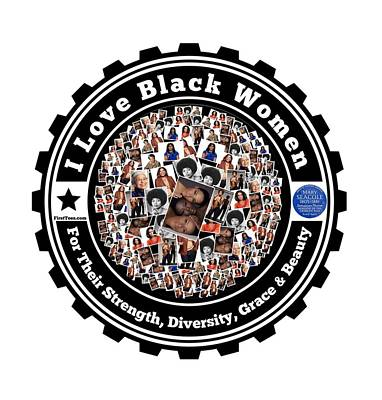Michelle Obama Digital Art - I Love Black Women by Firsttees Motivational Artwork