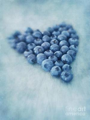 Blue Photograph - I Love Blueberries by Priska Wettstein