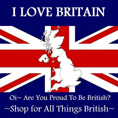 Print featuring the digital art I Love Britain by Digital Art Cafe