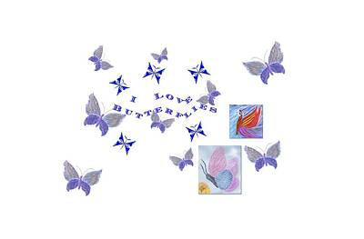 Digital Art - I Love Butterflies by Barbara Burns