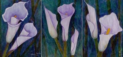 Lilium Painting - I Love Callas by Madalena Lobao-Tello