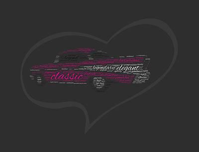 I Love Chevy Bel Air Art Print