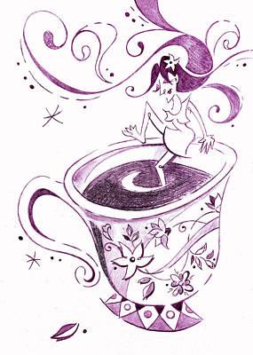 I Love Coffee Illustration - Arte Caffe Original by Arte Venezia