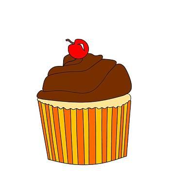 Cute Cupcakes Digital Art - I Love Cupcakes by Kathleen Sartoris