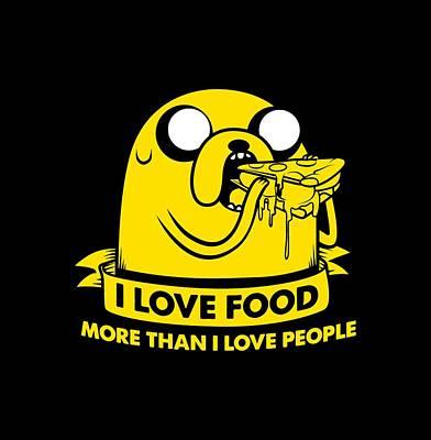 Fionna Drawing - I Love Food by Billi Vhito