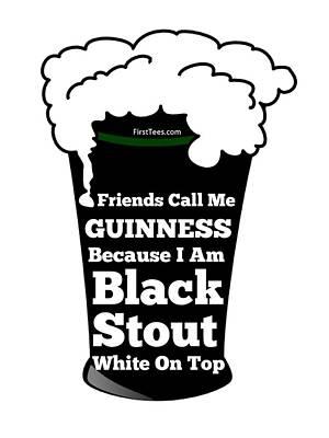 I Love Guinness  Art Print by FirstTees Motivational Artwork