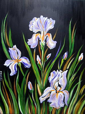 Painting - I Love Irises by Roberto Gagliardi