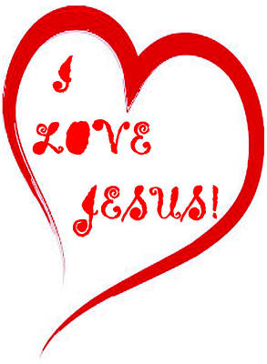 Digital Art - I Love Jesus by Antonia Pascoal