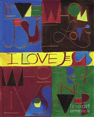 Painting - I Love Jesus - Mmilj by Br Mickey McGrath OSFS