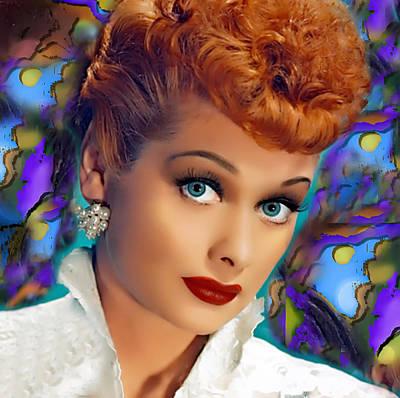 Digital Art - I Love Lucy by Karen Showell
