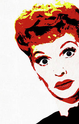 Painting - I Love Lucy Pop Art by Dan Sproul