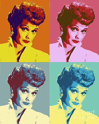I Love Lucy Pop Art Poster Art Print