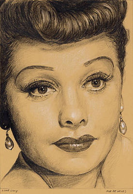 Drawing - I Love Lucy by Rob De Vries