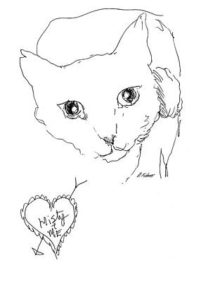 Drawing - I Love Misty by Denise Fulmer