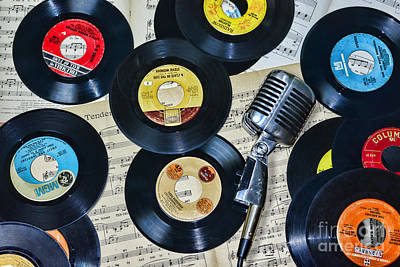 Old Sheet Music Photograph - I Love Music by Paul Ward