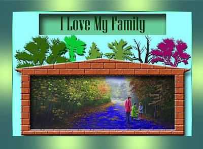 Painting - I Love My Family by Saeed Hojjati