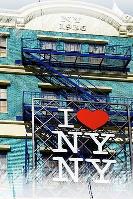 Mixed Media - I Love New York by Bob Pardue