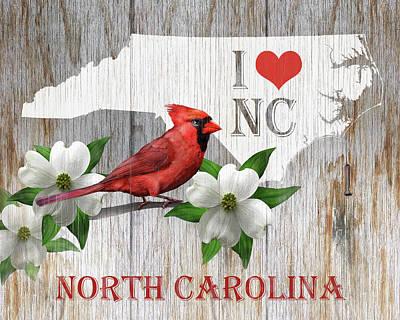 I Love North Carolina Art Print