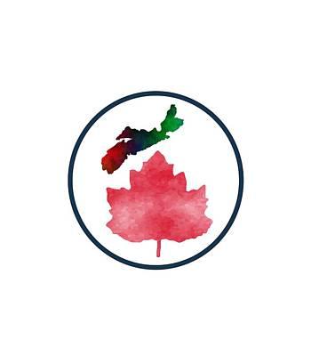 Canadiens Mixed Media - I Love Nova Scotia Canada by Kathleen Sartoris