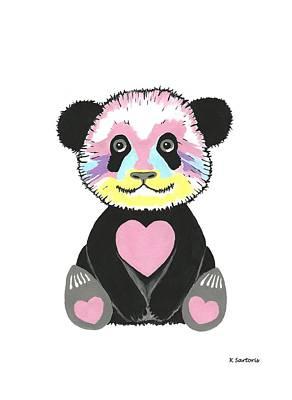 Painting - I Love Pandas - Whimsical Animals by Kathleen Sartoris