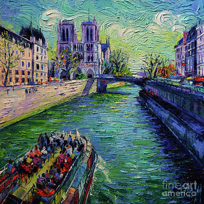 Tour Eiffel Painting - I Love Paris In The Springtime by Mona Edulesco