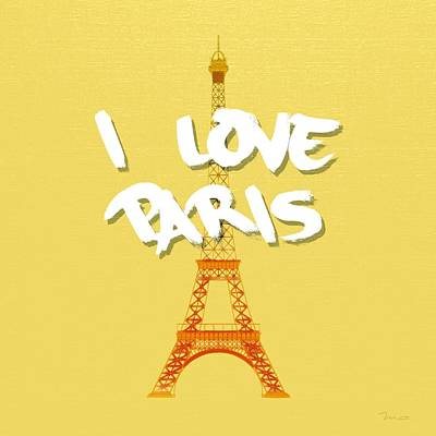 Painting - I Love Paris by Mark Taylor
