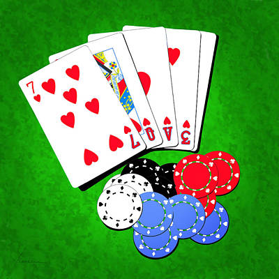Digital Art - I Love Poker by Francesa Miller