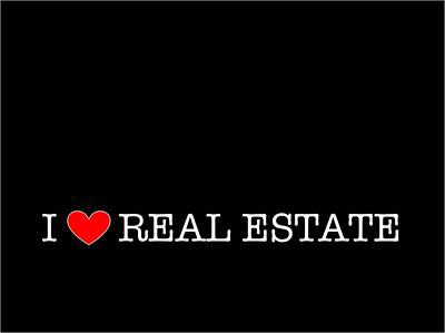 Photograph - I Love Real Estate Black by Carolina Mendez