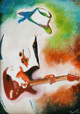 Santana Painting - I Love Rock by Tamanna  Sagar
