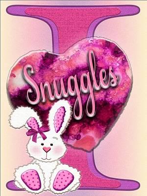 Snuggle Digital Art - I Love Snuggles by Denise Nendza