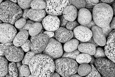 Photograph - I Love Stones Black And White by Kathi Mirto