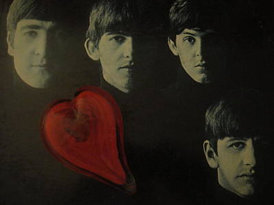 I Love The Early Beatles Music Art Print
