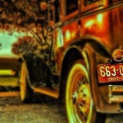 I Love This #classiccar Photo I Took In Art Print by Pete Michaud
