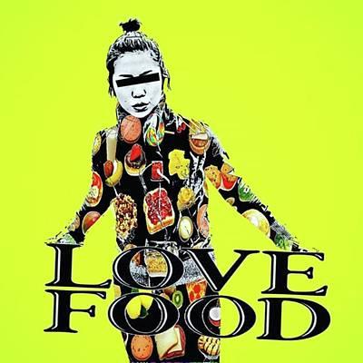 Pop Art Photograph - I Love To Eat🍔🍟 #アート by Takashi Nishimura