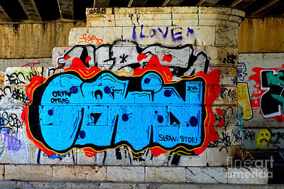 I Love                    ' Graffiti ' Art Print by Urban Artful