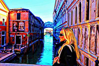 Digital Art - I Love Venice by Carrie OBrien Sibley