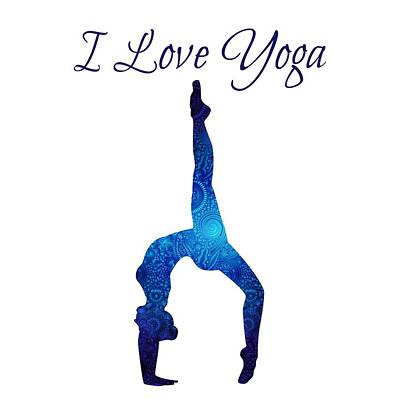Digital Art - I Love Yoga by Serena King