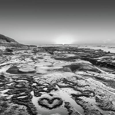 Blue Photograph - I Love You As Big As The Ocean Too Square    Black And White by Scott Campbell