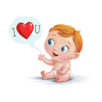 Digital Art - I Love You Baby  by Simon Sturge