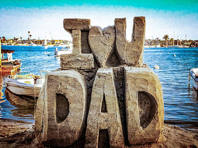 I Love America Digital Art - I Love You Dad by Vivian Frerichs