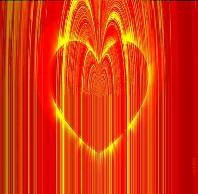 Faniart Africa America Digital Art - I Love You by Fania Simon