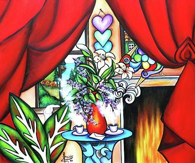 Painting - I Love You For All Seasons by Annie Maxwell