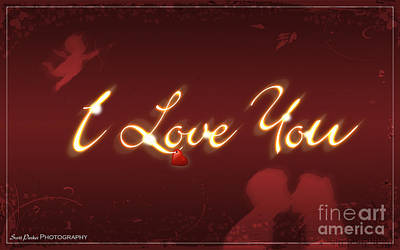 Digital Art - I Love You Greeting Card by Scott Parker